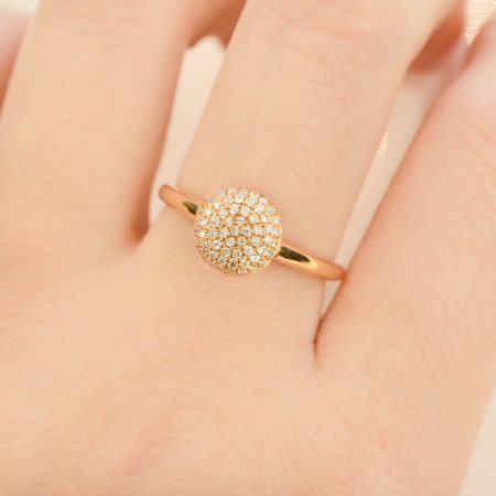 Cluster Diamond Ring 18K Rose Gold