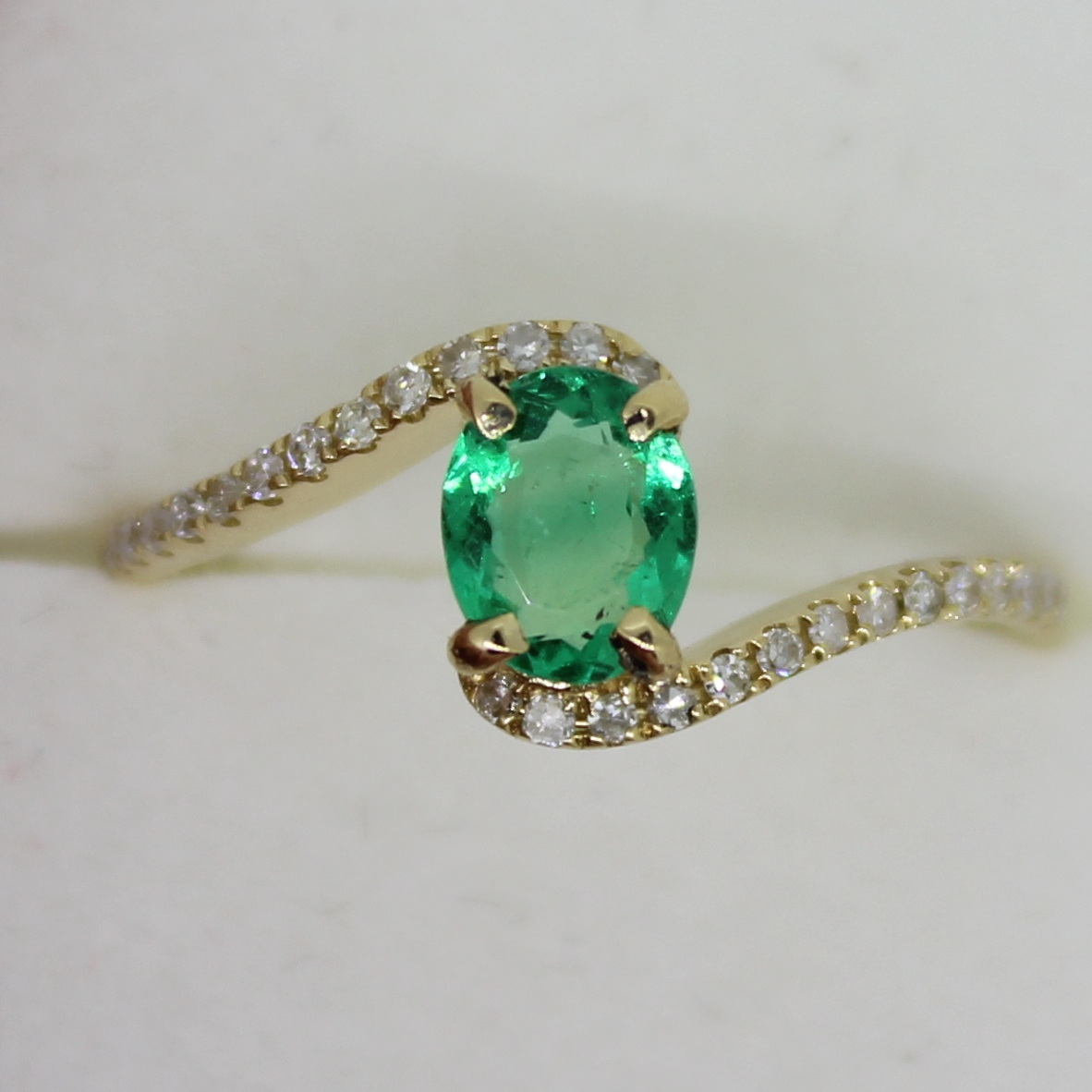 rings rose en rg jewellery paeonia emerald ring gold jewelry