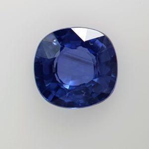 0.67 Carats Blue Sapphire Cushion Shape