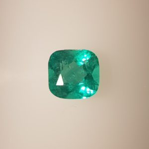 1.0 Carats Colombian Emerald Cushion