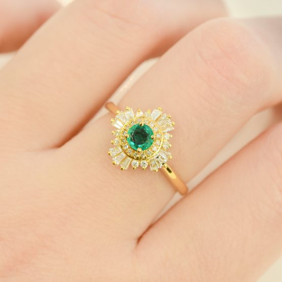 Emerald Gatsby ring 198250-4
