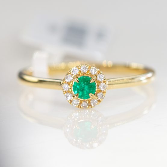 Petite Emerald Diamonds Ring - 198254