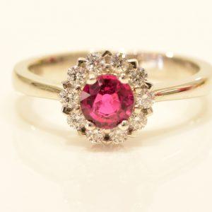 Ruby Diamond Gold Ring Dress ring