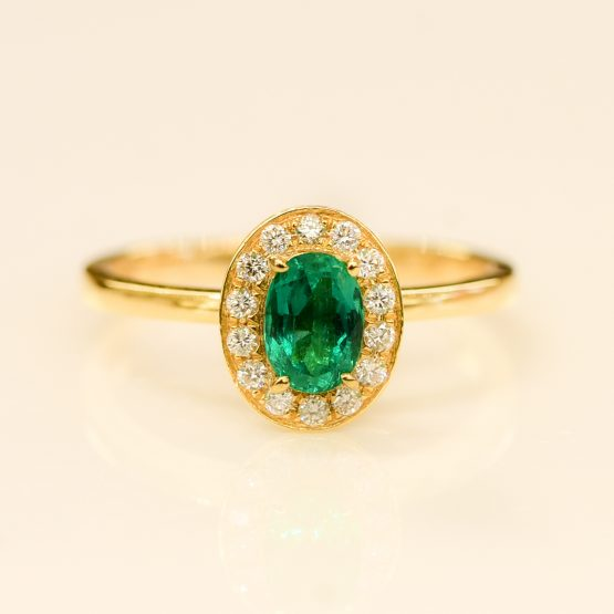 Colombian Emerald Halo Ring - 1982105-6