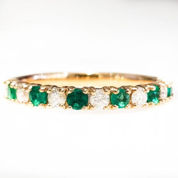 Emerald Diamond Eternity Band