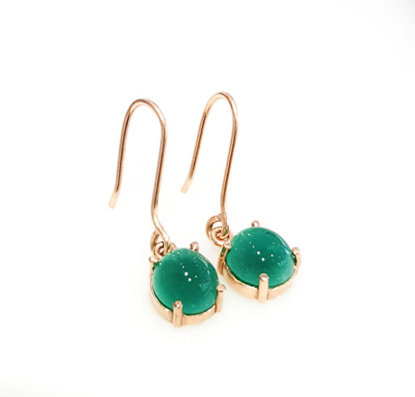 Dangling Colombian Emerald  Earrings   3.6 Ct