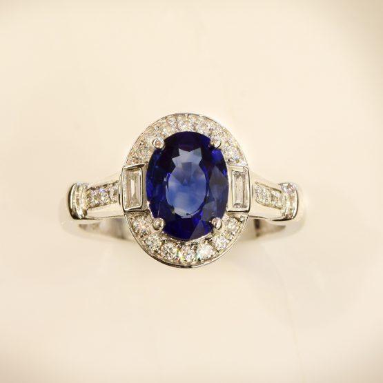 Art Deco Sapphire diamond Ring 1082151-4
