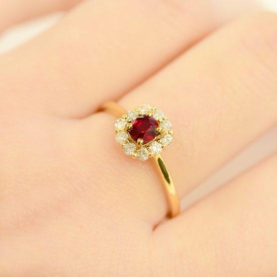 ruby diamond halo ring 1982181-1
