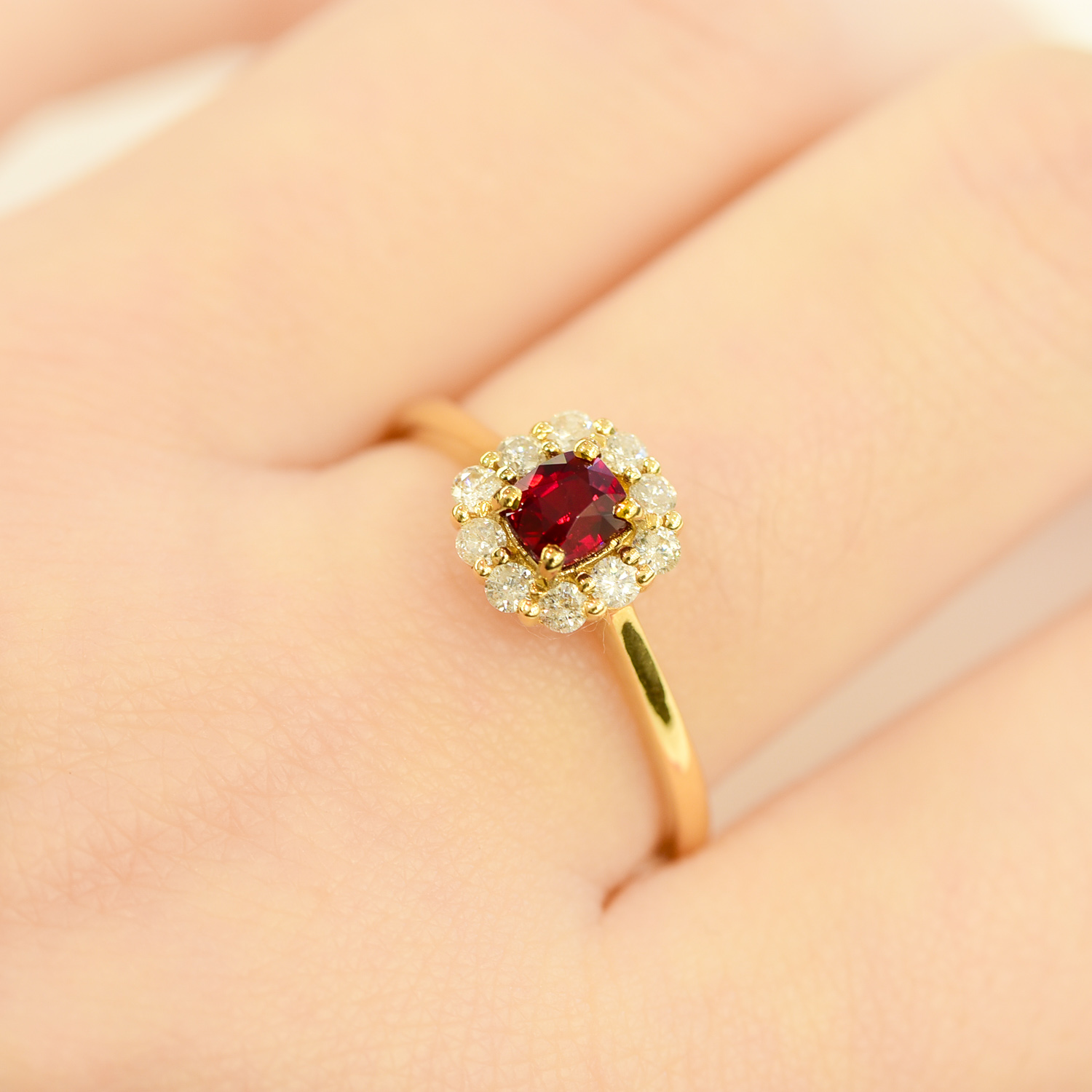 ruby diamond halo ring 1982181-1