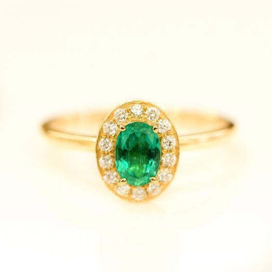 oval colombin emerald diamond ring 1982105-8