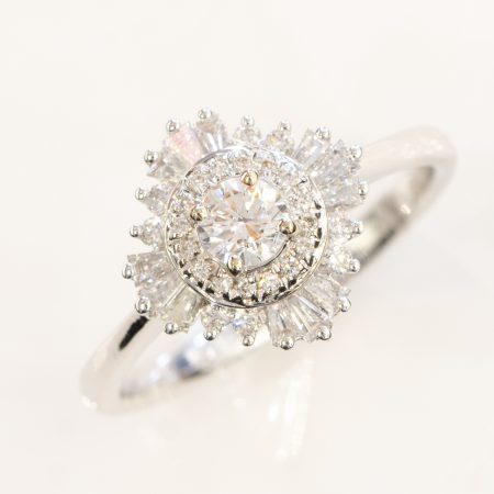 Diamond Engagement Ring Gatsby 0.61ct 18K White Gold