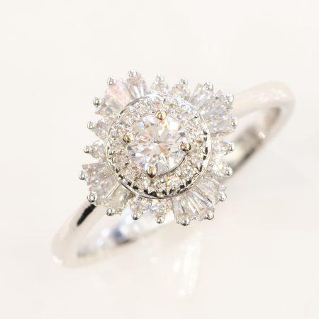 Diamond Engagement Ring Gatsby 0.61ct 18K White Gold