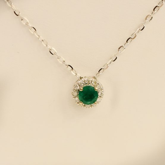 emerald diamond pendant 1982180-1