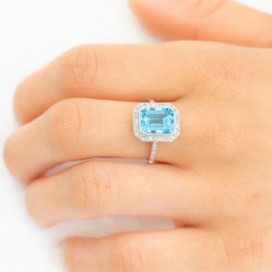 topaz diamond gold ring - 1982267-1