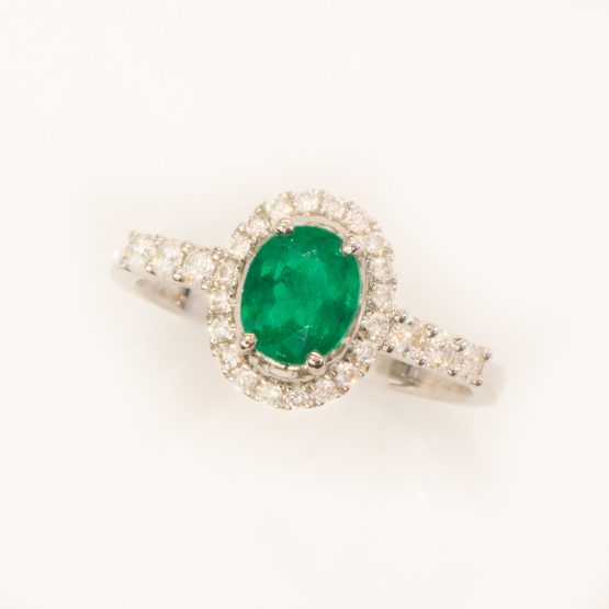vivid green emerald diamond ring 1982139-3