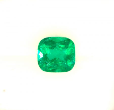 0.99  Carat Cushion   Colombian Emerald  Loose Gemstone