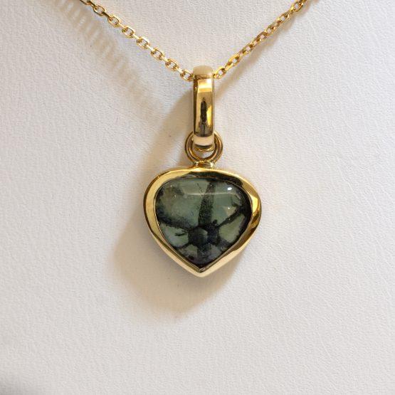 Natural Colombian Emerald Trapiche Pendant - 1982293