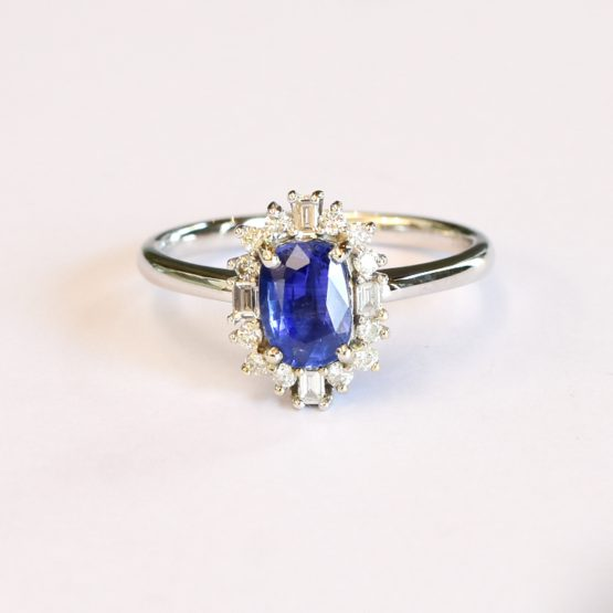 Natural Blue Sapphire and Diamond Ring and Pendant - 1982310