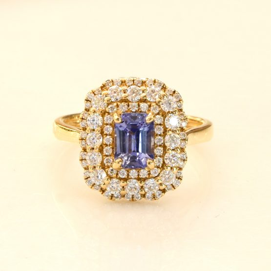 Natural Blue Ceylon Sapphire Convertible Pendant and Ring - 1982309