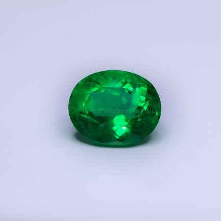 9.4   CT NATURAL  COLOMBIAN EMERALD  OVAL CUT