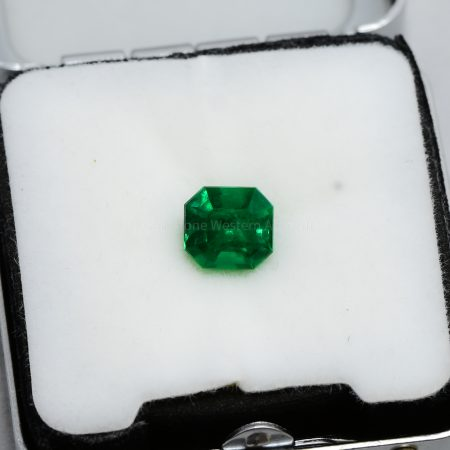 1.80  Carats Vivid Green Colombian Emerald