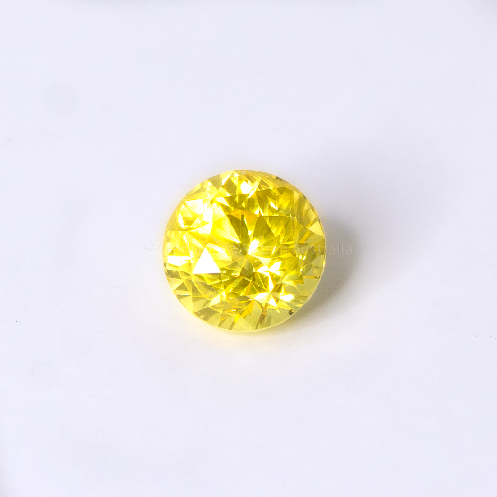 2.16 CT NATURAL YELLOW SAPPHIRE ROUND SHAPE UNHEATED