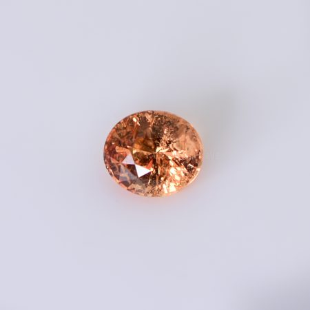 1.58 CT NATURAL PADPARADSCHA SUNSET ORANGY PINK OVAL CUT UNHEATED