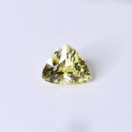 3.06 CT NATURAL YELLOW SAPPHIRE TRILLION MIX CUT UNHEATED