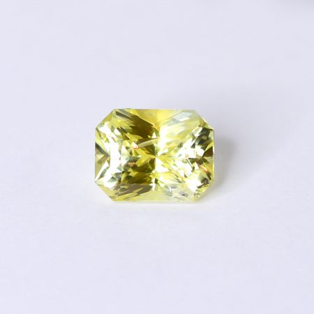 2.57 CT NATURAL YELLOW SAPPHIRE RADIANT MIX CUT UNHEATED