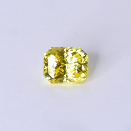 2.94 CT NATURAL YELLOW SAPPHIRE RADIANT MIX CUT UNHEATED