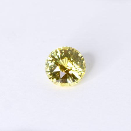 2.06 CT NATURAL VIVID YELLOW SAPPHIRE ROUND MIX CUT UNHEATED