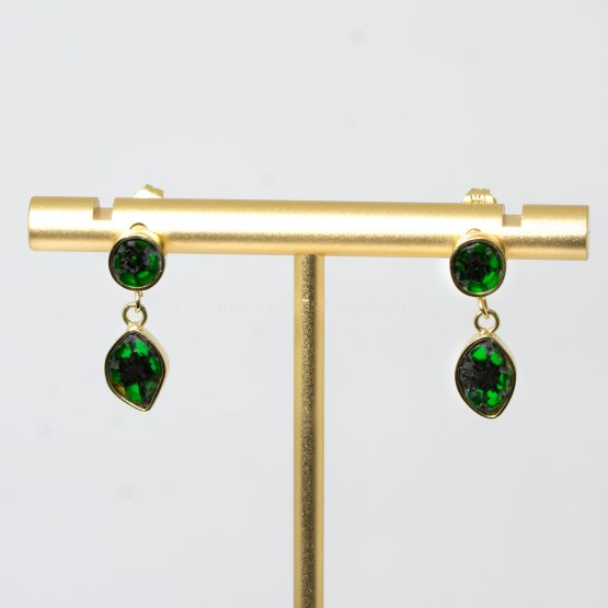 natural colombian emerald trapiche earrings - 1982388