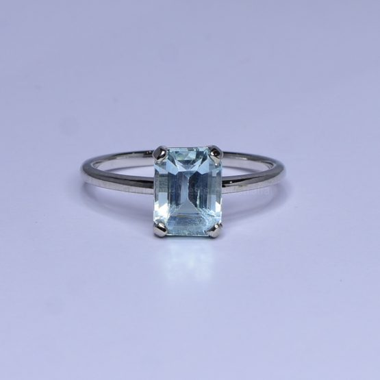 1.86ct Aquamarine Ring in White Gold - Natural Aquamarine - 1982402