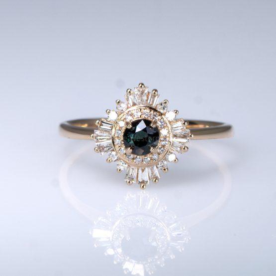 Natural Alexandrite Ring - Art Deco Alexandrite Ring 18K Rose Gold - 1982399-5