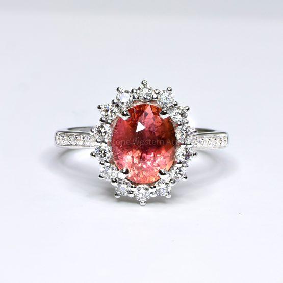 Natural Padparadscha Sapphire Ring - 1982392-3