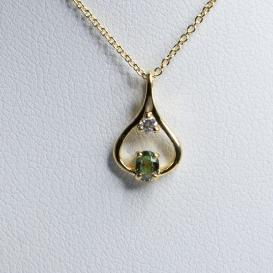 Natural Alexandrite Diamond Pendant 18K Yellow Gold - 1982415-1