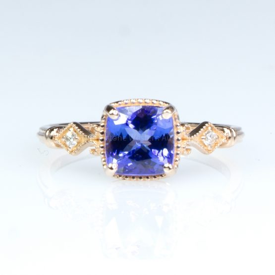 1.57ct Tanzanite and Diamond Ring in 14K Rose Gold - 1982424