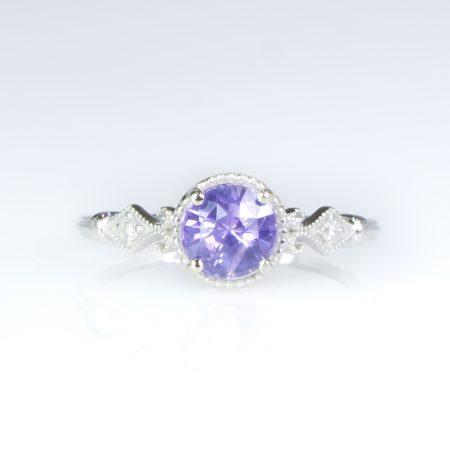 1 Carat Violet Sapphire Ring Violet Sapphire Diamond Ring