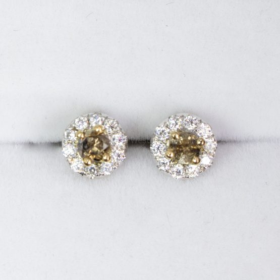 Natural Brown Diamonds Stud Earrings Chocolate Diamonds Stud Earrings in 9K Gold - 1982469-2